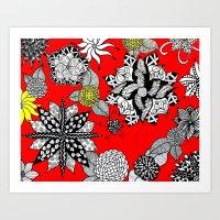 Pattern in Red  Art Print
