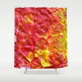 Fire Spiral Shower Curtain
