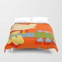 arnold Duvet Covers featuring 1969- a tribute to  Arnold Skolnick by mystudio69