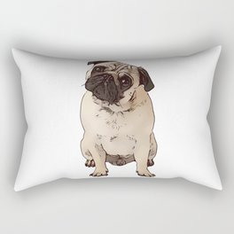 Pug the little dog as a gift for lovers Rectangular Pillow