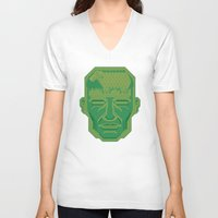 android V-neck T-shirts featuring Android Dreams by Doodle Dojo