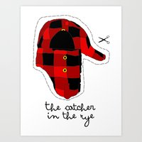 catcher in the rye Art Prints featuring Catcher in the Rye by Marianna