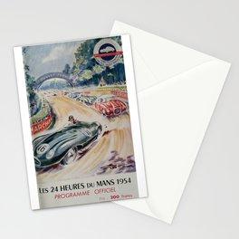 24hs Le Mans, 1954 vintage poster Stationery Cards