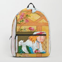Kate Greenaway - Valentine, carrier pigeon - Digital Remastered Edition Backpack