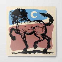 Crescent Horse Metal Print