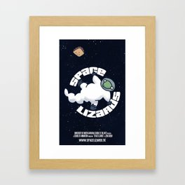 SPACE LIZARD: the logo Framed Art Print