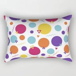 Dotted in the 80s Rectangular Pillow