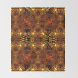 Golden Thread Throw Blanket
