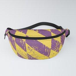 Mustard Purple Zig Zag Quilt Pattern Fanny Pack