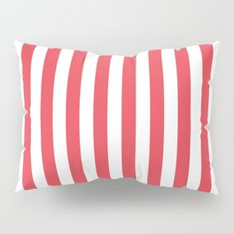 Coral Orangey-Red Tent Stripe Pillow Sham