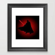 Vader Sithouette Framed Art Print
