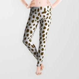 Brown Dalmatian Spots (brown/white) Leggings
