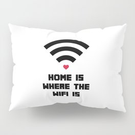 Home Where WiFi Is Funny Quote Pillow Sham