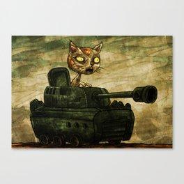 Tank Cat Canvas Print