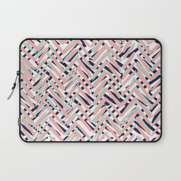 Boho Pattern Summer Abstract, Blue, Coral, Pink,Mint Green Laptop Sleeve