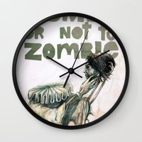 shakespeare Wall Clocks featuring Zombie + Shakespeare by Stephane Lauzon