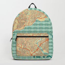 Istanbul Map Retro Backpack