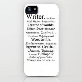 Writer iPhone Case