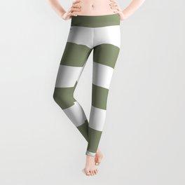 Artichoke - solid color - white stripes pattern Leggings