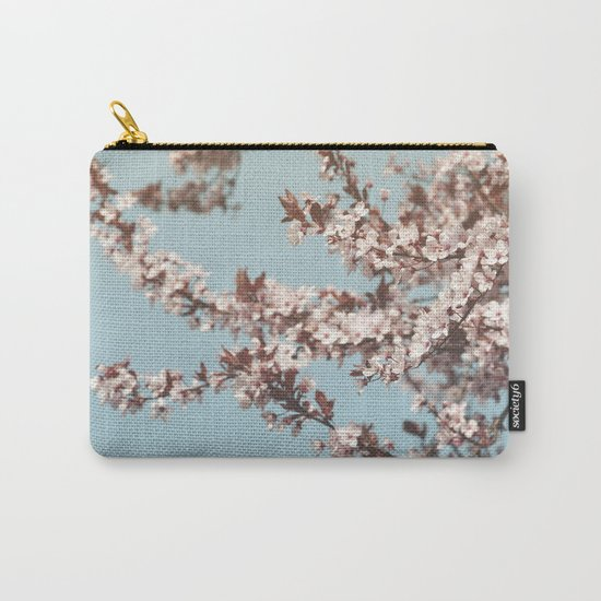 Cherryblossoms against the blue sky Carry-All Pouch