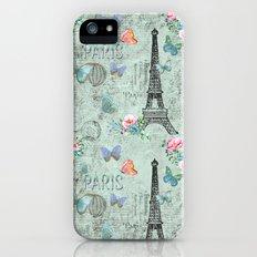 Paris - my love - Nostalgy Vintage Watercolor Illustration Slim Case iPhone (5, 5s)