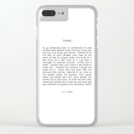 Travel Far and Often Clear iPhone Case
