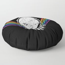 Artsy Drummer Skull Floor Pillow