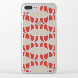 Crossed ovals Clear iPhone Case