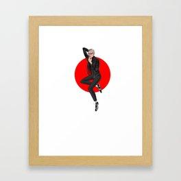 Jeff Goldblum pin up Framed Art Print
