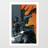 metal gear Art Prints featuring METAL GEAR Ground Zeroes by Toni Infante