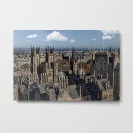 Edinburgh Rooftops Metal Print
