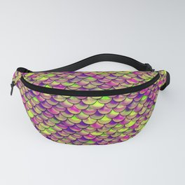 Purple Green Scales Fanny Pack