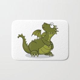 green baby dragon Bath Mat