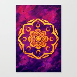 """""""Witchcraft""""  WATERCOLOR MANDALA (HAND PAINTED) BY ILSE QUEZADA Canvas Print"""