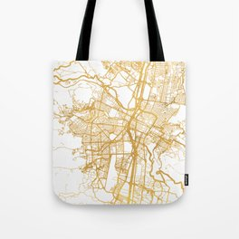 MEDELLÍN COLOMBIA CITY STREET MAP ART Tote Bag