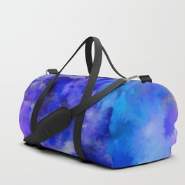 Abstract Art Pour - Blue, Purple and Grey Duffle Bag