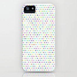Rainbow doodle polka dots iPhone Case