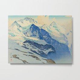 The Jungfrau Vintage Beautiful Japanese Woodblock Print Hiroshi Yoshida Metal Print