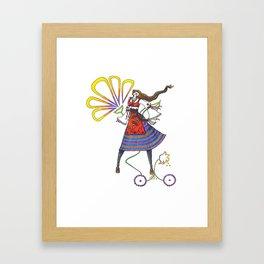 Folk Dancer Framed Art Print