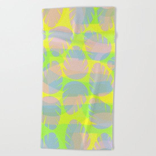 Bright leaves Beach Towel