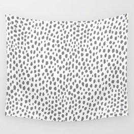 Gray Dalmatian Spots (gray/white) Wall Tapestry