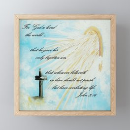 For God so Loved the World Framed Mini Art Print