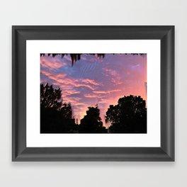 Slashed Sunset Framed Art Print