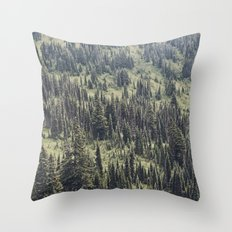 Mountain Trees Throw Pillow