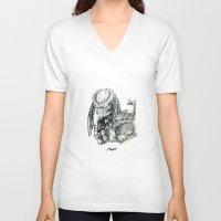 predator V-neck T-shirts featuring Predator. by Gary Barling
