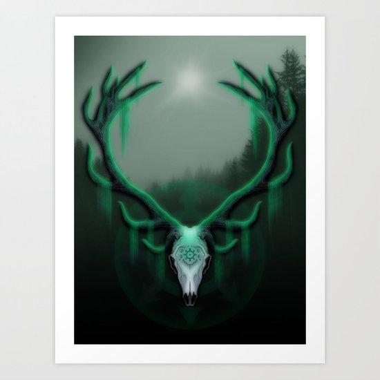Wild Horns Art Print