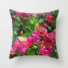 Summer Garden Abstract Throw Pillow