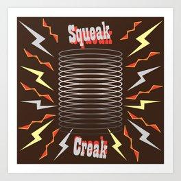 Squeak & Creak Art Print