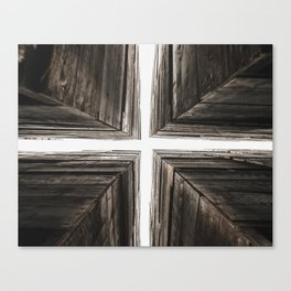 Between the Crates Canvas Print