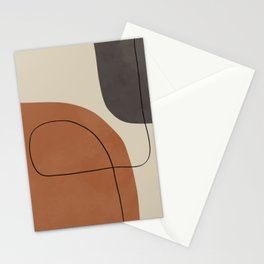 Modern Abstract Shapes #1 Stationery Cards